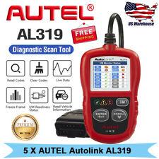 5 x Autel Autolink AL319 OBD2 EOBD CAN Auto Diagnostic Scanner Code Reader Tool