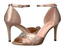 Kate Spade Medina Pink Champagne Satin Sandals Heels Size 6.5M