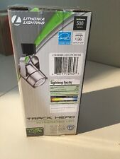 Lithonia Lighting Meshback 1-Light Brushed Nickel Integrated LED Track Head 8.6