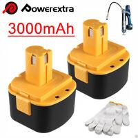 2x 12V Battery For Lincoln PowerLuber 12 Volt Grease Gun LIN 1201 1200 1240 1242