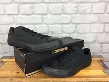 CONVERSE UK 8 EU 41.5 BLACK CHUCK TAYLOR LOW MONO CANVAS TRAINERS MENS LADIES