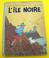 TINTIN HERGE L'ILE NOIRE B1 1947 PAPIER MINCE BON ETAT D'USAGE