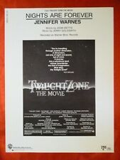 TWILIGHT ZONE Movie Sheet Music NIGHTS ARE FOREVER Jerry Goldsmith 1983 J Landis