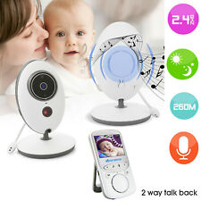 2.4' Lcd Audio Video Baby Monitor Radio Nanny Music Intercom Ir Portable Rk