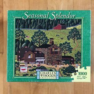 Charles Wysocki Seasonal Splendor Puzzle WATERMELON FARMS 1000pc - Complete