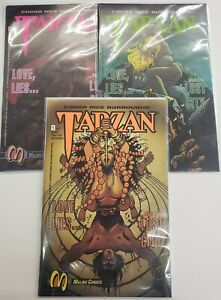 Tarzan #1-3 COMPLETE SET ~ NM 1992 MALIBU COMICS ~ Edgar Rice Burrough's