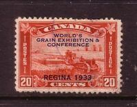 "CANADA....  1933  20c ""grain conference etc"" overprint  used"