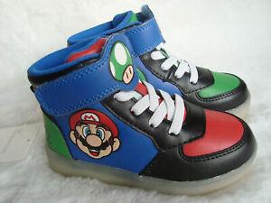 Super Mario Blinkende Sneaker Kinder Gr. 25 Nintendo leuchtende Schuhe LED NEU