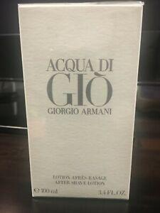 NEW Giorgio Armani Acqua Di Gio After Shave Lotion 100ml Perfume