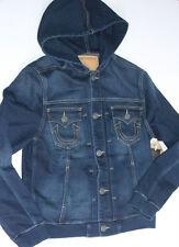 New True Religion Hoodie Blue Jacket 3XL XXXLarge XXXL  Slim Fit