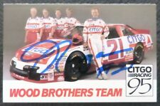 Morgan Shepherd signed printed promotional advertising card,Auto Wood Brothers