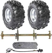 "32"" Go Kart ATV Rear Axle kit 8"" Wheels Sprocket & Hub Brake Assembly Quad Buggy"