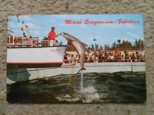 .POSTCARD.MIAMI SEAGUARIUM-FABULOUS .POSTED 16.5.1970 10c STAMP
