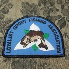 COLLECTIBLE ONTARIO CANADA LOYALIST SPORT FISHING ASSOCIATION PATCH
