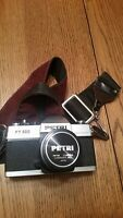 Vintage Petri FT 500 Camera 35mm Film. Strap. 55mm f2.8. Works. Needs battery