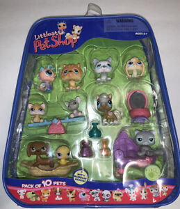 Littlest Pet Shop 10-Pack Pets in Carry Case w/Accessories, 2006 RARE Seahorse