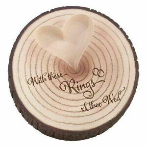 Rustic Wedding Ring Holder, Resin Wood
