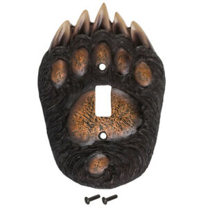 Bear Paw Single Switch Plate Home Decoration Man Cave