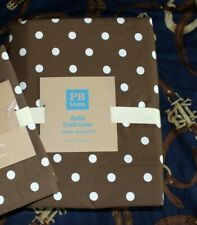 NEW Pottery Barn Teen Dottie duvet cover only Twin coffee