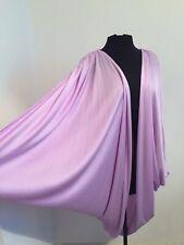 💋 Vtg Grecian Disco Avant Garde Glam Rock Draped Cocoon Jacket Batwinged PURPLE