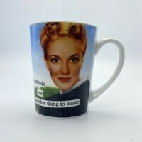 "ANNE TAINTOR ""Attitude a Terrible Thing To Waste"" Retro Diva 9 OZ Tea Cup Mug"