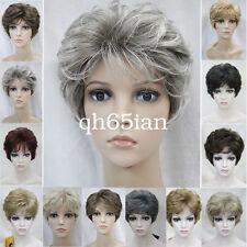 Vestido de lujo mujeres señoras Cosplay Wigs corto rizado de la peluca Pelo natural diario