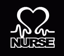 Nurse Heart Vinyl Car Window Decal Cardiac Love EMT LPN RN Work Sticker