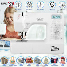 200 Stitches Quilting Sewing Machine Automatic Threading 5 Sewing Feet Free Arm