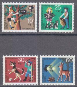 Berlin 1972 MNH Mi 418-421 Sc 9NB88-9NB91 Animal Protection **