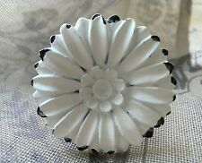 Antique White DAISY Drawer Door Knob French Shabby Chic Vintage Furniture Decor