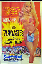 27x41 huge Movie Poster THE PLAYMATES DEEP VISION 3D 1973 Sextravaganza