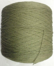 COTTON 6/2 - 2520 YPP LACE WEIGHT TUBE YARN 1 LB ARMY GREEN (C10)