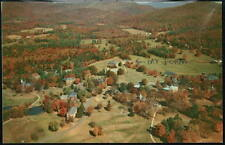 EAST NORTHFIELD MA Girls School Vtg Aerial Campus View Postcard Old Mass PC