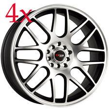 Drag Wheels DR-34 17x7.5 5x100 5x114 Black Rims For TC Impreza TSX Rsx Cl Legacy