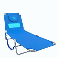 New | Sun In Comfort Ladies Comfort Furniture | Chaise Lounge Beach Chair, Blue