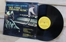 """LP . jerry lee lewis """"ole tyme country music"""" (1970)"""