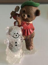 Hallmark Bear Carving Ice Sculpture Keepsake Ornament - 1981 Mib