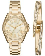 Michael Kors Women Kacie Stainless Steel Watch & Bracelet Box Set 39mm MK3568
