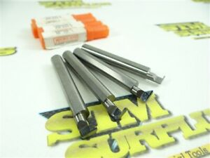 """4 NEW! MICRO100 SOLID CARBIDE GROOVING TOOLS 5/16"""" SHANKS MODEL #RR-033-6"""