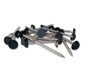 Poly Pins 30mm Anthracite (Dark Grey) Plastic Headed Nails 50 Qty Fascia Pins