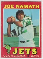 1971  JOE NAMATH - Topps Football Card # 250 - NEW YORK JETS Hall of Fame QB
