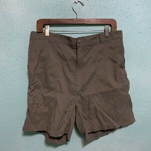LL Bean Womens Brown Nylon Shorts Size 18 Regular