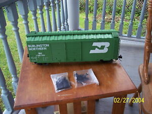 AML American Main Line ACCUCRAFT  G SCALE 1:29 1/29 40 'DBL/DR BURLINGTON BOXCAR