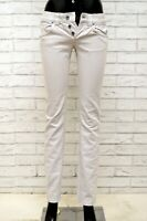 Jeans Donna DONDUP GLASS Taglia 25 Pantalone Pants Woman Slim Skinny Fit Grigio