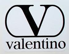 """VALENTINO"" ADESIVO LOGO JEANS VINTAGE NUOVO (8 x 6) ANNI 80 (PREPPY PANINARO)"