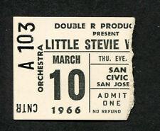 1966 Little Stevie Wonder concert ticket stub San Jose
