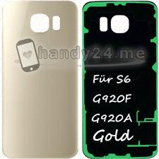 Akkudeckel Für Samsung Galaxy S6 G920F Akkudeckel Backcover ● Gold + Kleber