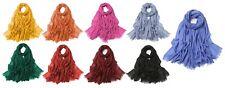 Schal für Damen und Herren einfarbig weich leicht XXL Halstuch Accessoires