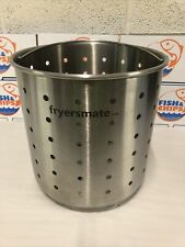 More details for stainless steel heavy duty chip basket bucket fryersmate draining cafe takeaway