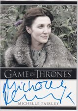 GAME OF THRONES SEASON 1 MICHELLE FAIRLEY CATELYN STARK AUTOGRAPH RARE BORDERED